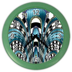 Abstract Art Design Texture Color Wall Clocks
