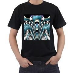 Abstract Art Design Texture Men s T Shirt (black)