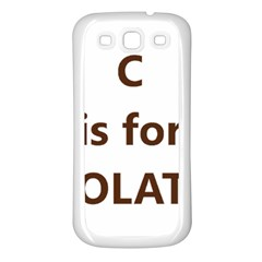 C Is For Choc Lab Samsung Galaxy S3 Back Case (White)