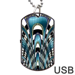 Abstract Art Design Texture Dog Tag Usb Flash (one Side)