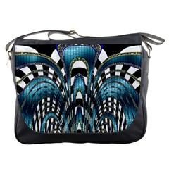 Abstract Art Design Texture Messenger Bags