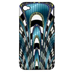 Abstract Art Design Texture Apple Iphone 4/4s Hardshell Case (pc+silicone)