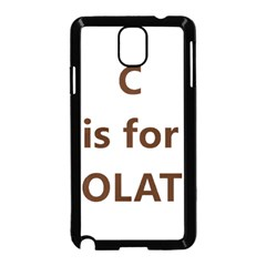 C Is For Choc Lab Samsung Galaxy Note 3 Neo Hardshell Case (Black)