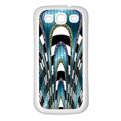 Abstract Art Design Texture Samsung Galaxy S3 Back Case (White)