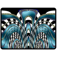 Abstract Art Design Texture Double Sided Fleece Blanket (large)