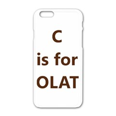 C Is For Choc Lab Apple iPhone 6/6S White Enamel Case