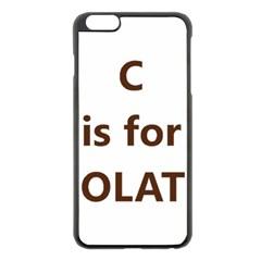 C Is For Choc Lab Apple iPhone 6 Plus/6S Plus Black Enamel Case