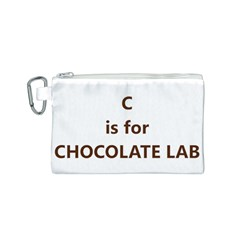 C Is For Choc Lab Canvas Cosmetic Bag (S)