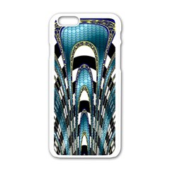 Abstract Art Design Texture Apple Iphone 6/6s White Enamel Case