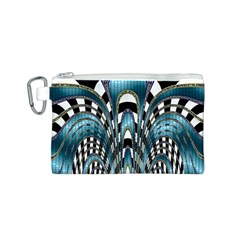Abstract Art Design Texture Canvas Cosmetic Bag (S)