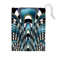Abstract Art Design Texture Drawstring Pouches (Extra Large)