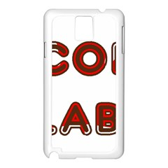 Choc Lab Canadian Flag In Name Samsung Galaxy Note 3 N9005 Case (White)