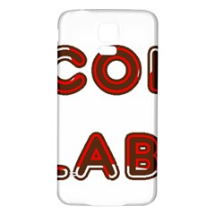 Choc Lab Canadian Flag In Name Samsung Galaxy S5 Back Case (White)