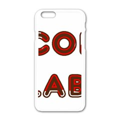 Choc Lab Canadian Flag In Name Apple iPhone 6/6S White Enamel Case