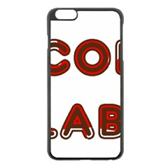 Choc Lab Canadian Flag In Name Apple iPhone 6 Plus/6S Plus Black Enamel Case