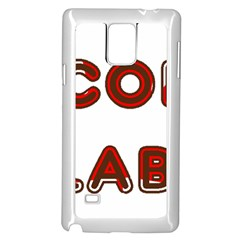 Choc Lab Canadian Flag In Name Samsung Galaxy Note 4 Case (White)