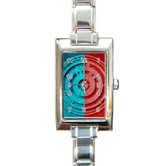 Vector Watch Texture Red Blue Rectangle Italian Charm Watch