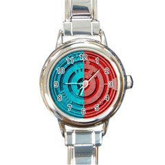 Vector Watch Texture Red Blue Round Italian Charm Watch