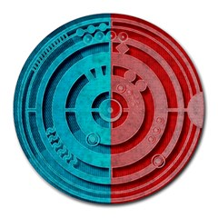 Vector Watch Texture Red Blue Round Mousepads