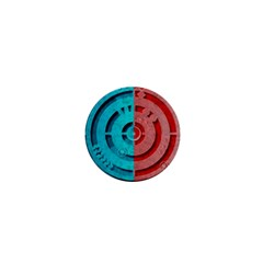 Vector Watch Texture Red Blue 1  Mini Buttons