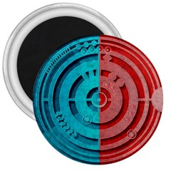 Vector Watch Texture Red Blue 3  Magnets