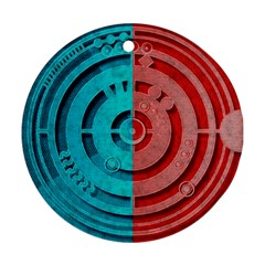 Vector Watch Texture Red Blue Ornament (Round)