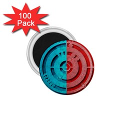 Vector Watch Texture Red Blue 1.75  Magnets (100 pack)