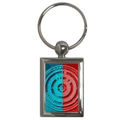 Vector Watch Texture Red Blue Key Chains (rectangle)