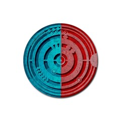 Vector Watch Texture Red Blue Rubber Coaster (Round)
