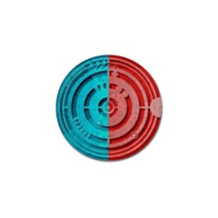 Vector Watch Texture Red Blue Golf Ball Marker