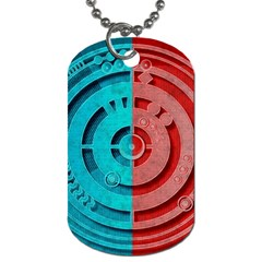 Vector Watch Texture Red Blue Dog Tag (Two Sides)