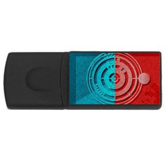 Vector Watch Texture Red Blue USB Flash Drive Rectangular (1 GB)