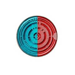 Vector Watch Texture Red Blue Hat Clip Ball Marker (4 Pack)