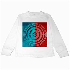 Vector Watch Texture Red Blue Kids Long Sleeve T-Shirts