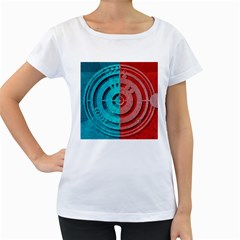 Vector Watch Texture Red Blue Women s Loose Fit T Shirt (white)