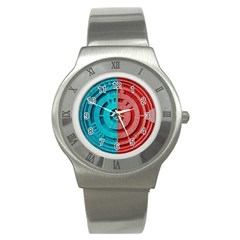 Vector Watch Texture Red Blue Stainless Steel Watch