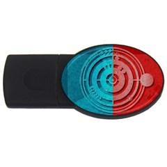 Vector Watch Texture Red Blue Usb Flash Drive Oval (4 Gb)