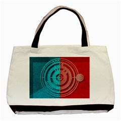Vector Watch Texture Red Blue Basic Tote Bag