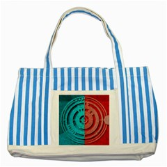 Vector Watch Texture Red Blue Striped Blue Tote Bag