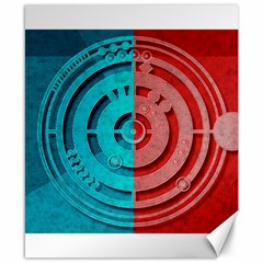 Vector Watch Texture Red Blue Canvas 8  x 10