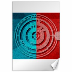 Vector Watch Texture Red Blue Canvas 12  x 18