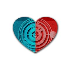 Vector Watch Texture Red Blue Heart Coaster (4 Pack)