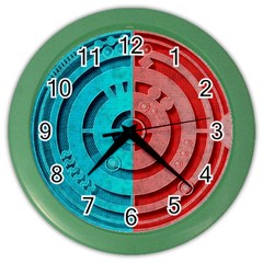 Vector Watch Texture Red Blue Color Wall Clocks