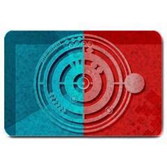 Vector Watch Texture Red Blue Large Doormat