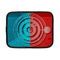 Vector Watch Texture Red Blue Netbook Case (Small)