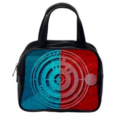 Vector Watch Texture Red Blue Classic Handbags (One Side)