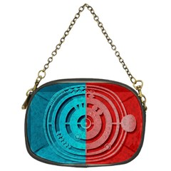 Vector Watch Texture Red Blue Chain Purses (Two Sides)