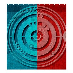Vector Watch Texture Red Blue Shower Curtain 66  X 72  (large)