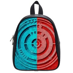 Vector Watch Texture Red Blue School Bags (small)
