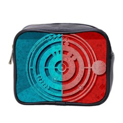 Vector Watch Texture Red Blue Mini Toiletries Bag 2-Side
